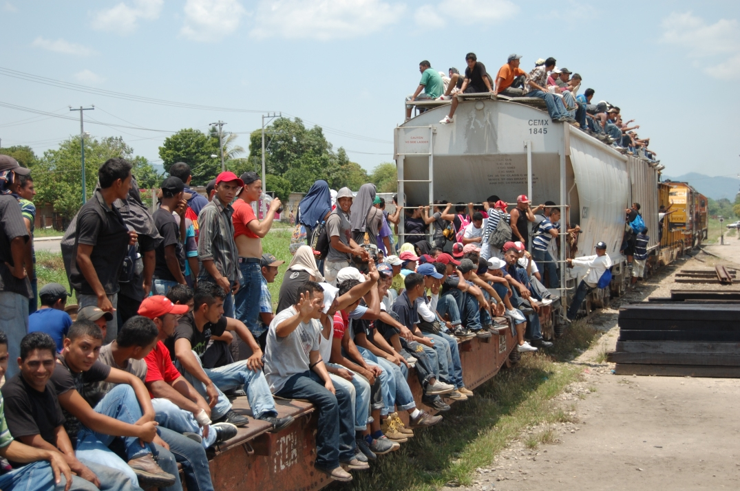 Central American migrants on La Bestia